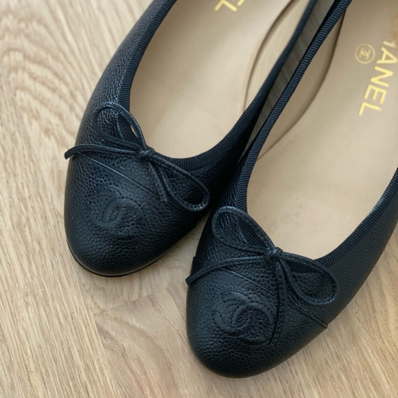 ✨ Chanel Caviar Ballet Flats ✨